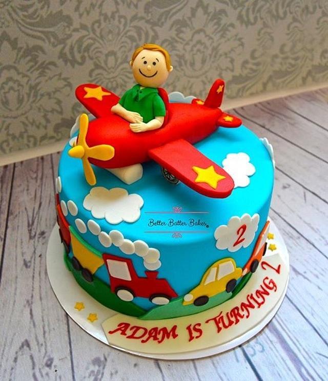 Cool Baby On Plane Birthday Cake Cake By Better Batter Bakes Cakesdecor Funny Birthday Cards Online Unhofree Goldxyz