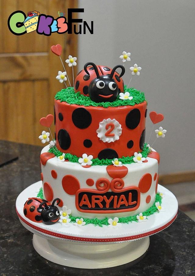 Tremendous Ladybug Birthday Cake Cake By Cakes For Fun Cakesdecor Funny Birthday Cards Online Alyptdamsfinfo