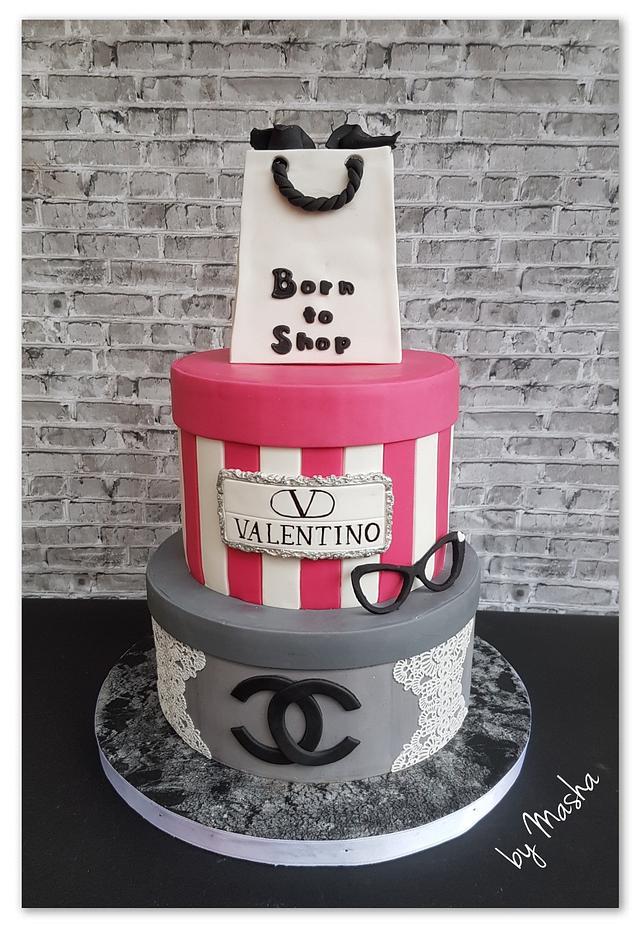 Wondrous Shopaholic Big Birthday Cake Cake By Sweet Cakes By Cakesdecor Funny Birthday Cards Online Alyptdamsfinfo