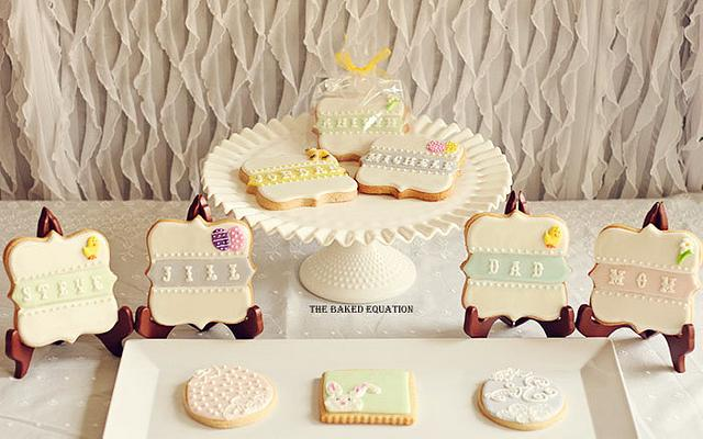 Easter Table Setting Plaque Cookies