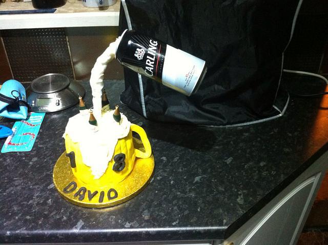 floating beer cake
