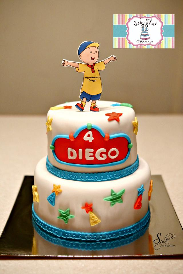 Superb Caillou Birthday Cake Cake By Genel Cakesdecor Funny Birthday Cards Online Elaedamsfinfo