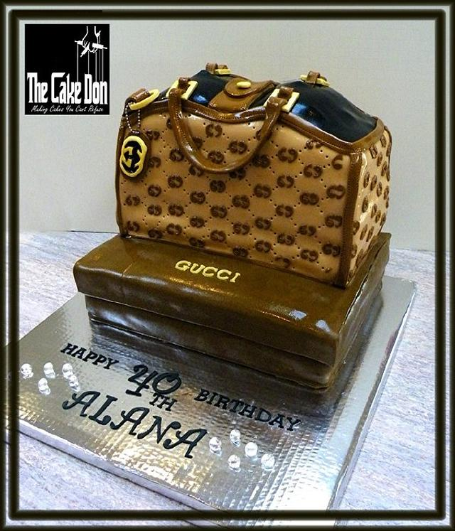 "The ""GUCCI & DIAMONDS ARE A GIRLS BEST FRIENDS"" Cake"