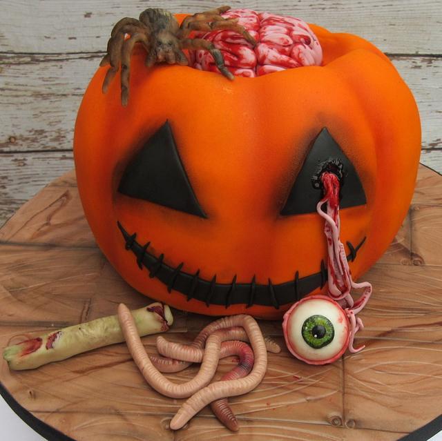 Gory Halloween pumpkin