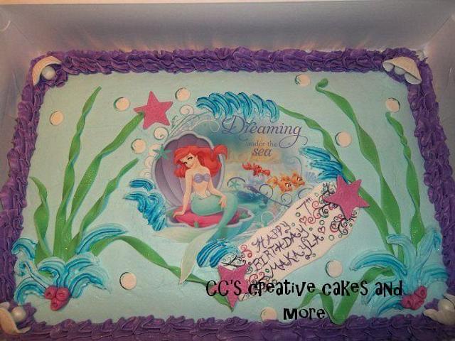 lil mermaid cake