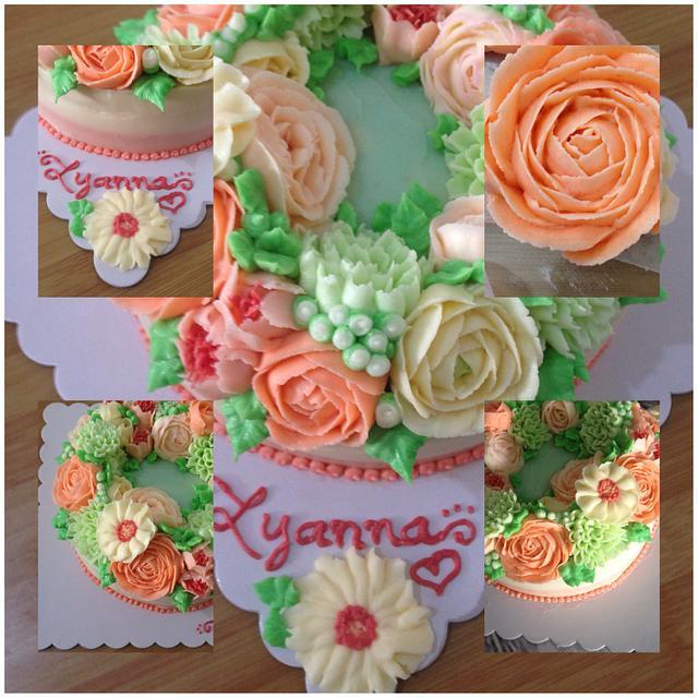 Korean Buttercream Flowercake