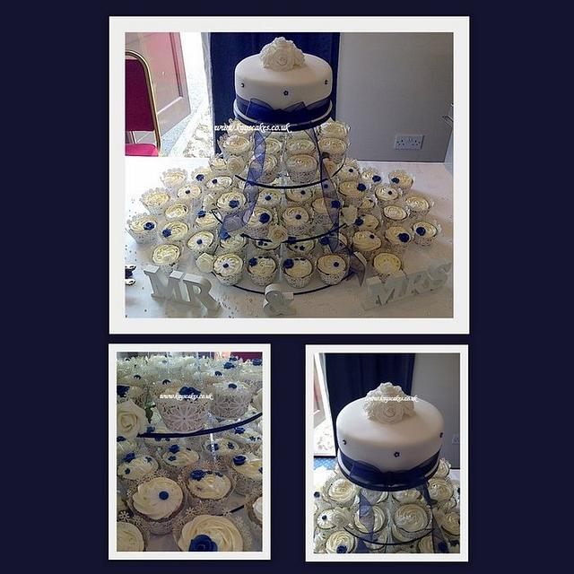 Wedding cupcake tower.