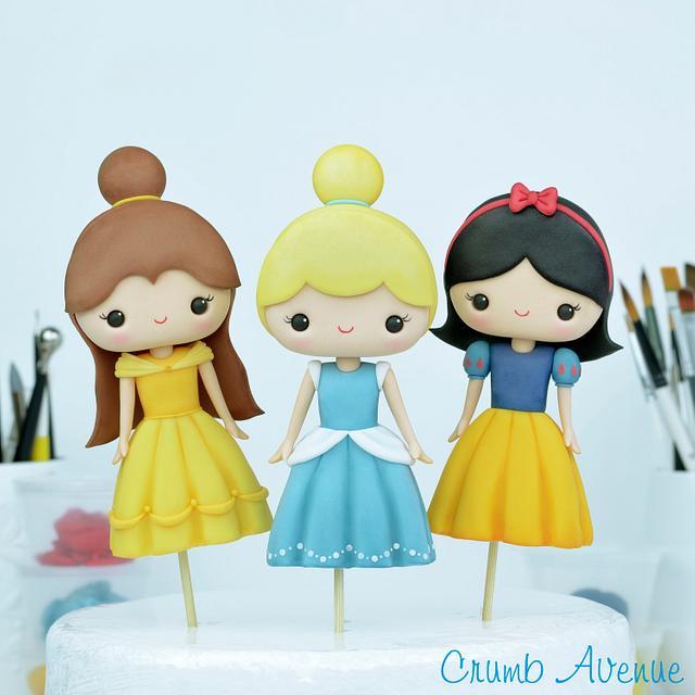 Cute Princess Cake Toppers