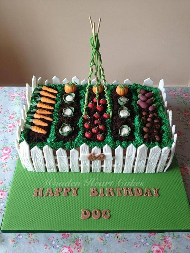 Vegetable Garden Cake - cake by Wooden Heart Cakes ...