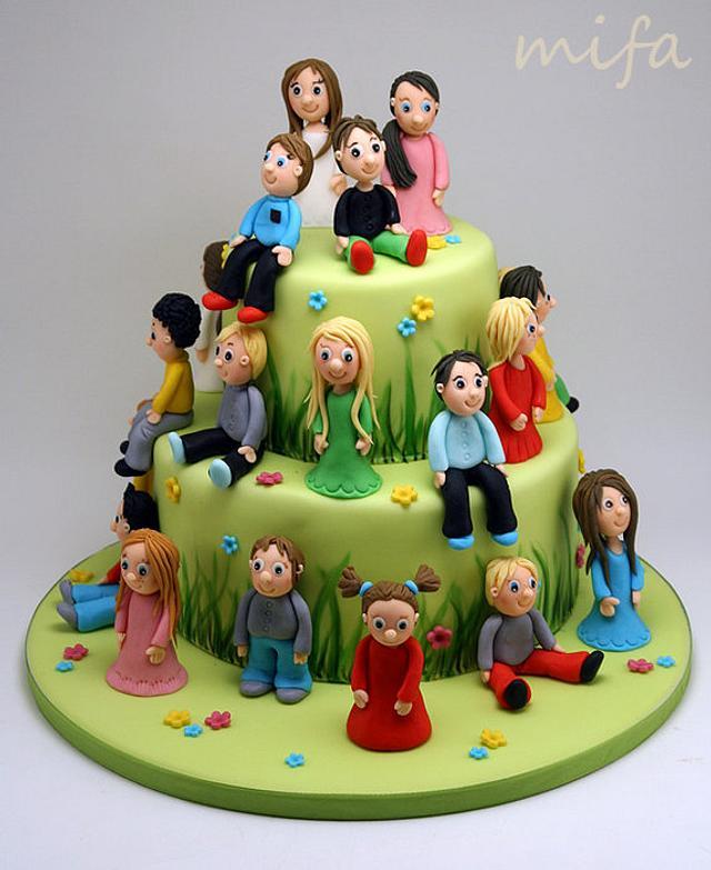 School Children Cake