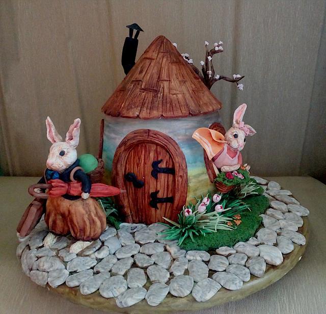 Vintage Easter cake