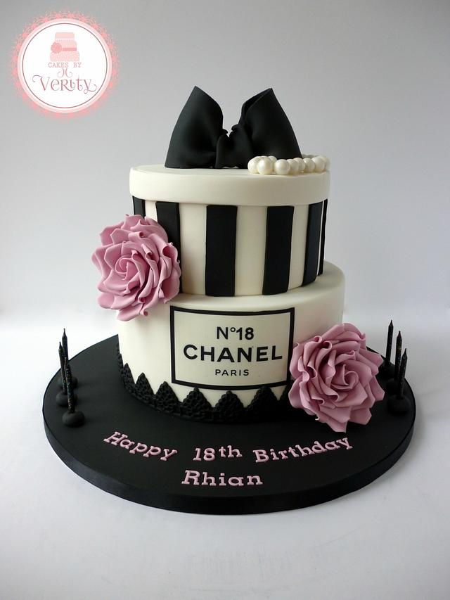 Strange Chanel Inspired 18Th Birthday Cake Cake By Cakes By Cakesdecor Birthday Cards Printable Trancafe Filternl