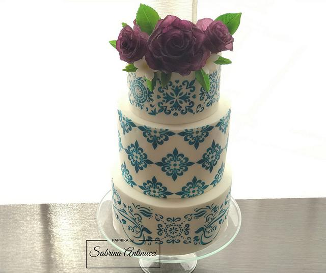 Majolica wedding cake