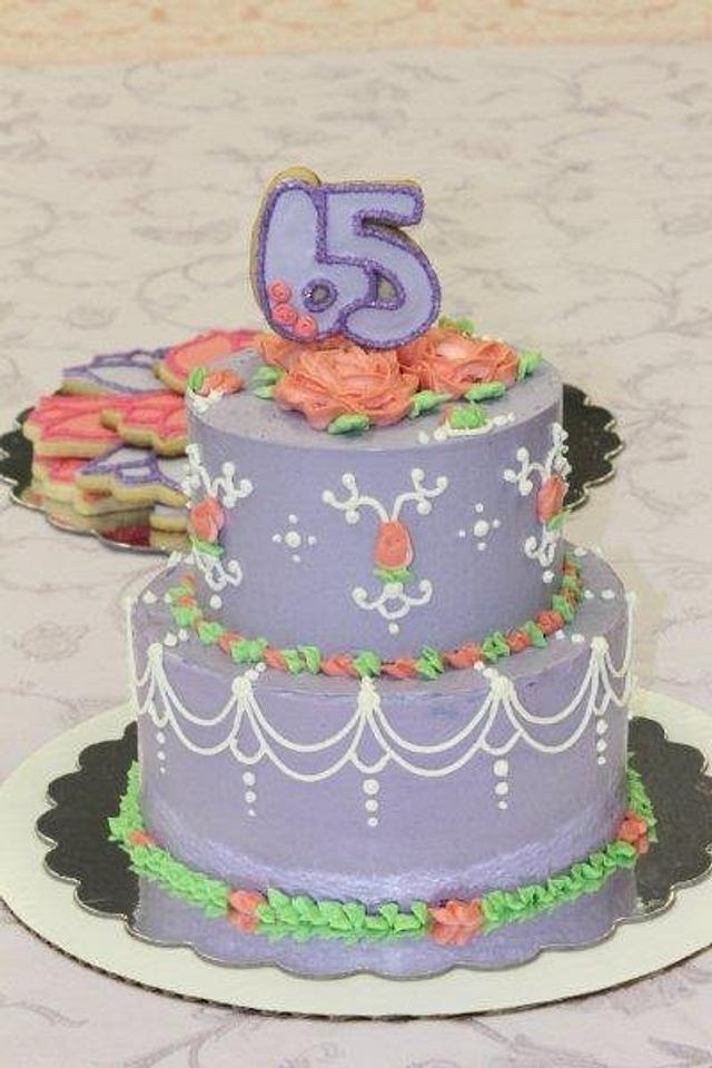 Awe Inspiring 65Th Birthday Cake Cake By 3Dsweets Cakesdecor Funny Birthday Cards Online Inifodamsfinfo