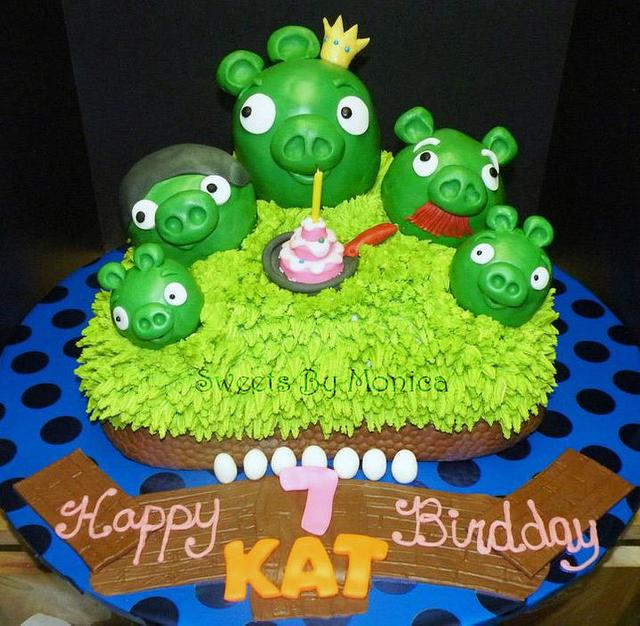 """""""Pigs Rule !"""" Angry Birds Birthday"""