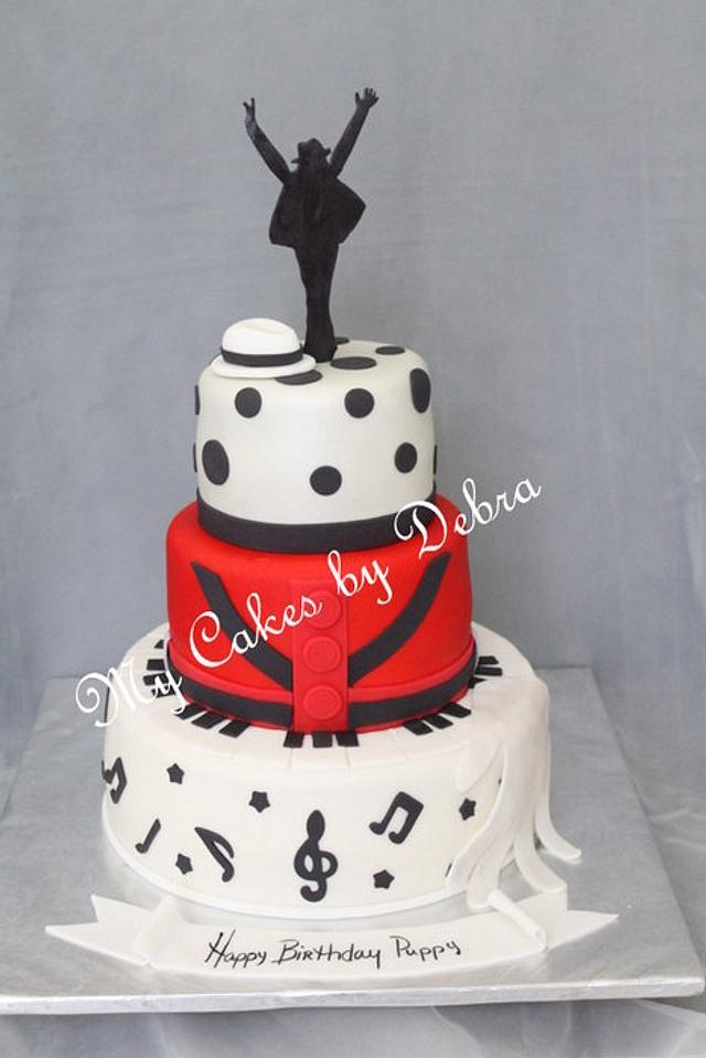 Outstanding Michael Jackson Theme Birthday Cake Cake By Debra Cakesdecor Funny Birthday Cards Online Hetedamsfinfo