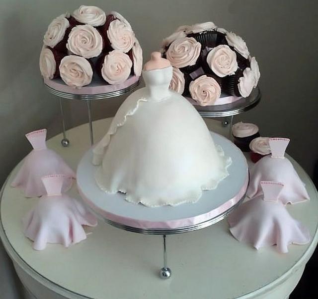 Bridal Shower Bouquet Cake