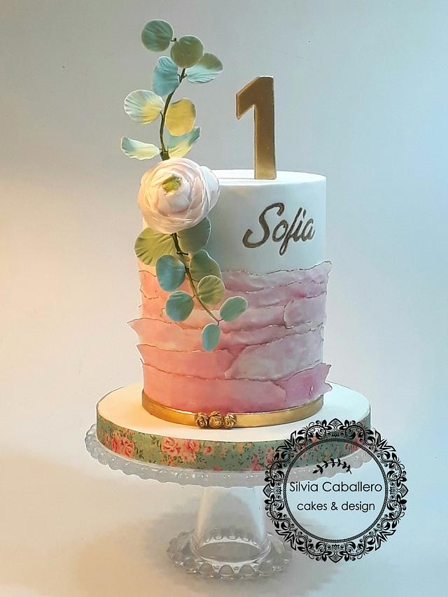 Magnificent First Year Birthday Cake Cake By Silvia Caballero Cakesdecor Funny Birthday Cards Online Alyptdamsfinfo