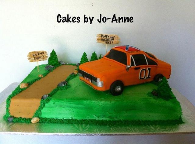 Fabulous Dukes Of Hazzard Cake By Cakes By Jo Anne Cakesdecor Personalised Birthday Cards Arneslily Jamesorg