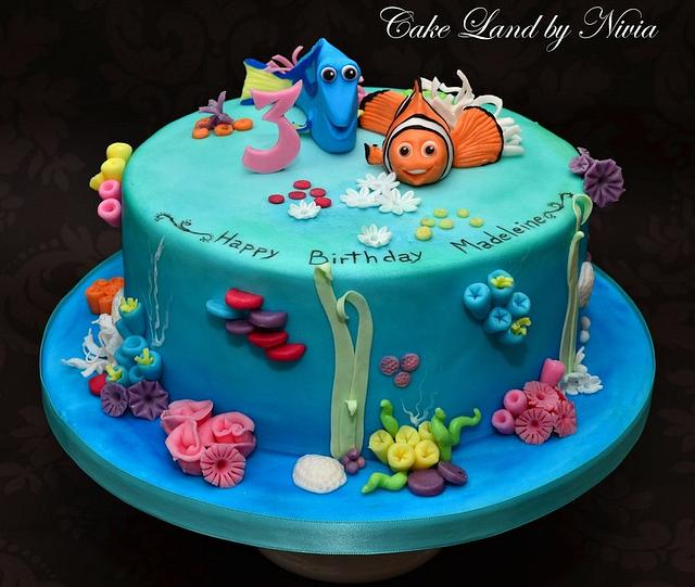 Enjoyable Nemo Birthday Cake Cake By Nivia Cakesdecor Funny Birthday Cards Online Elaedamsfinfo