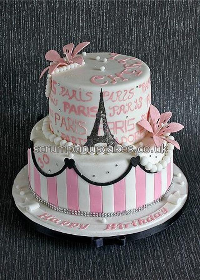 Phenomenal Paris Themed Birthday Cake Cake By Scrumptious Cakes Cakesdecor Funny Birthday Cards Online Fluifree Goldxyz