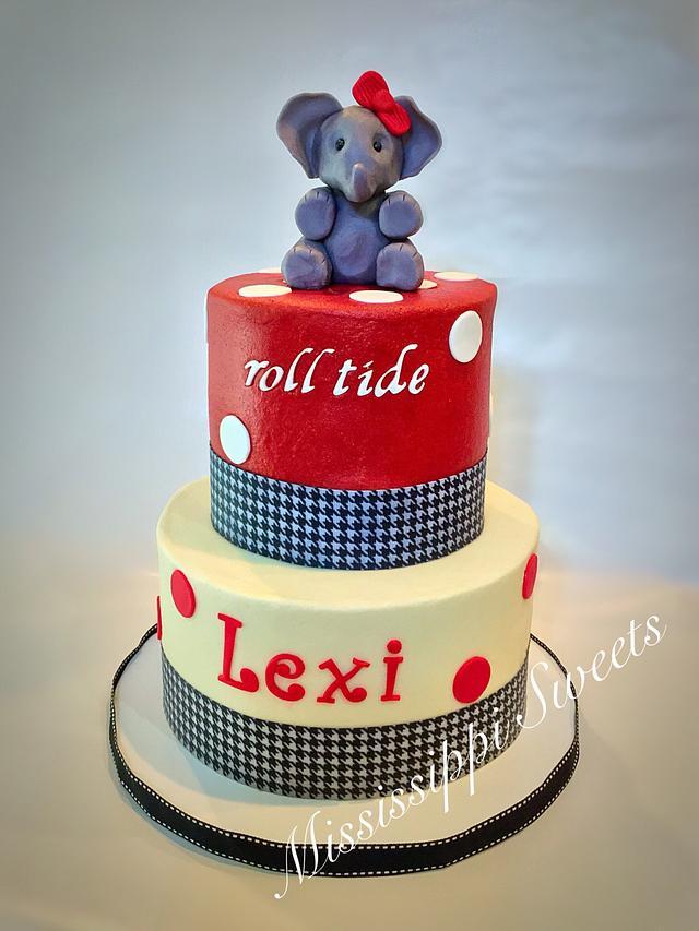 Swell Alabama Crimson Tide Birthday Cake Cake By Wendy Cakesdecor Personalised Birthday Cards Veneteletsinfo