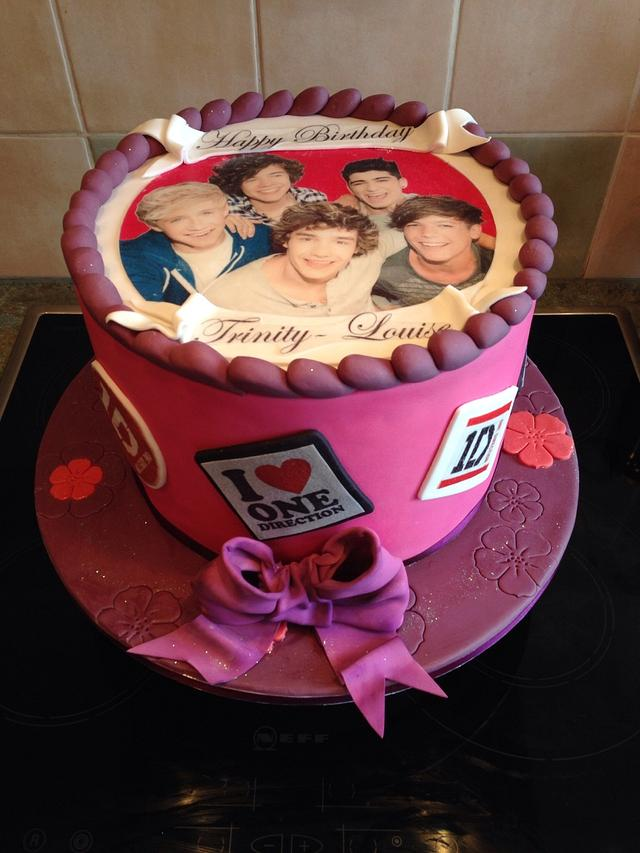 Marvelous One Direction Birthday Cake Cake By S J Foods Cakesdecor Funny Birthday Cards Online Elaedamsfinfo