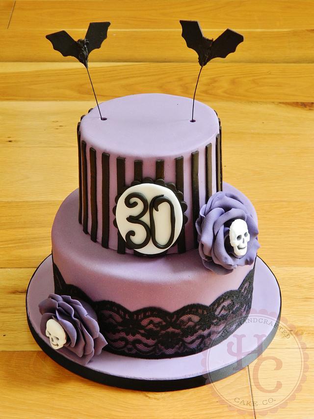 Strange Gothic 30Th Birthday Cake Cake By Thehandcraftedcake Cakesdecor Birthday Cards Printable Inklcafe Filternl