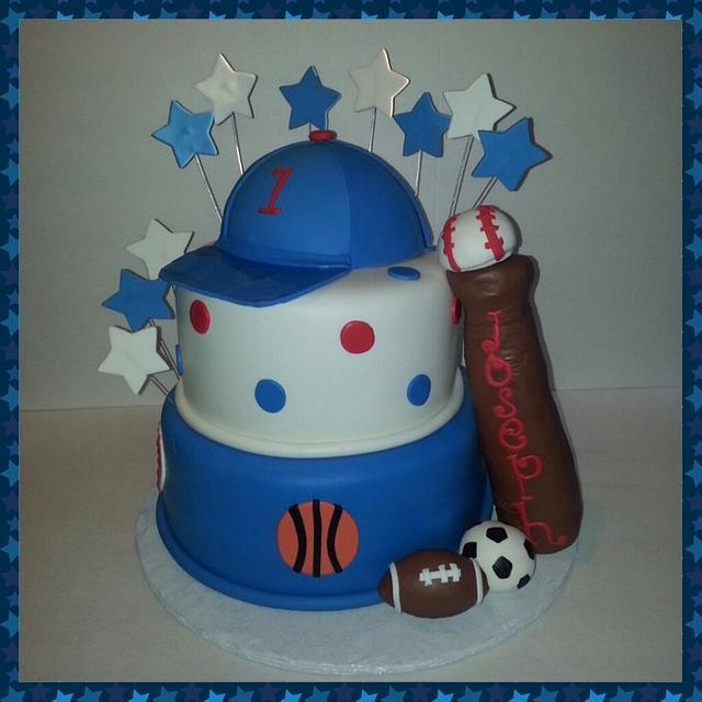 First Birthday Sports Cake