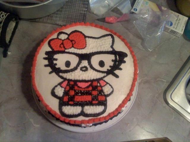 Hello kitty nerd cake