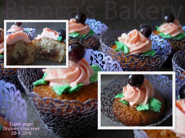 Own Harvest Grape Cupcakes