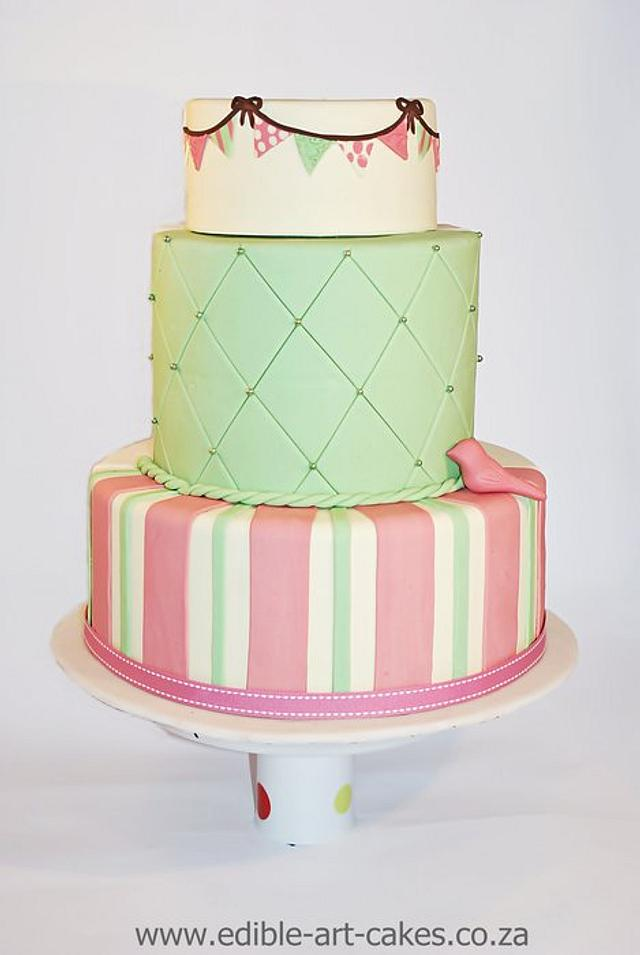 Quirky Bunting cake
