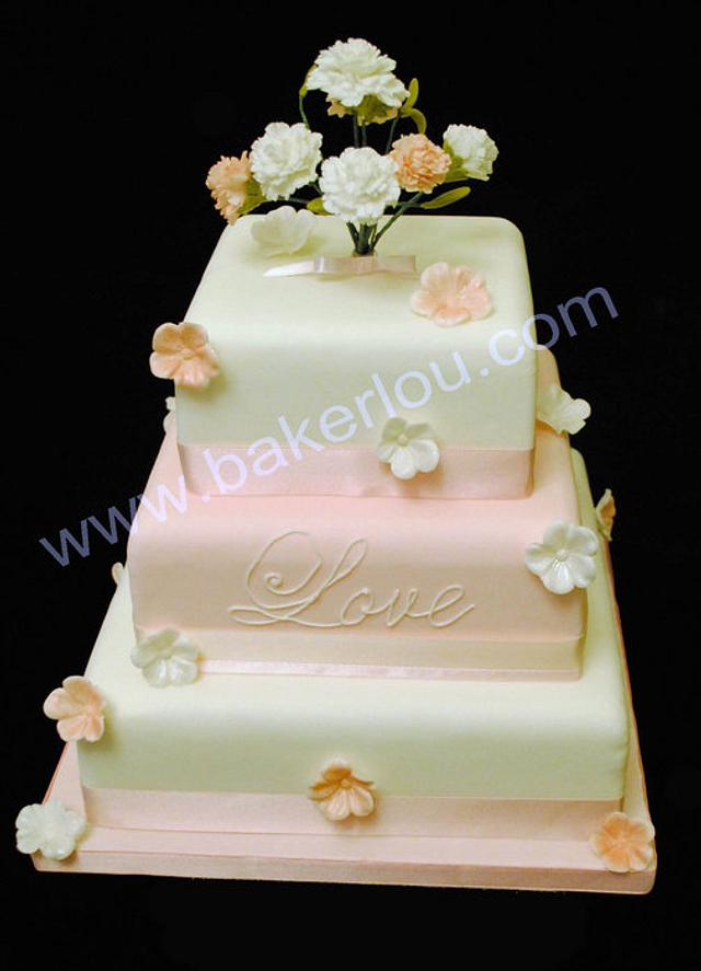 Wedding Cake with carnations