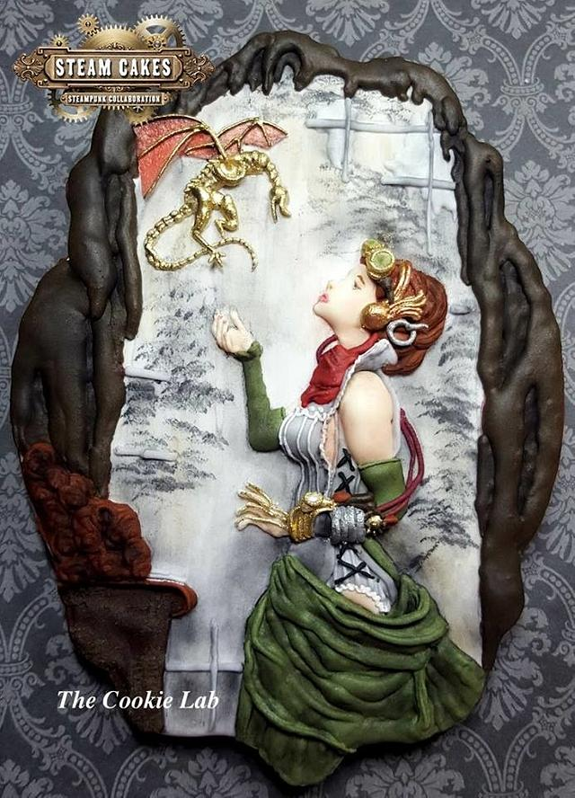 Steampunk Collaboration - Steam Cakes  -  The dragon and the girl