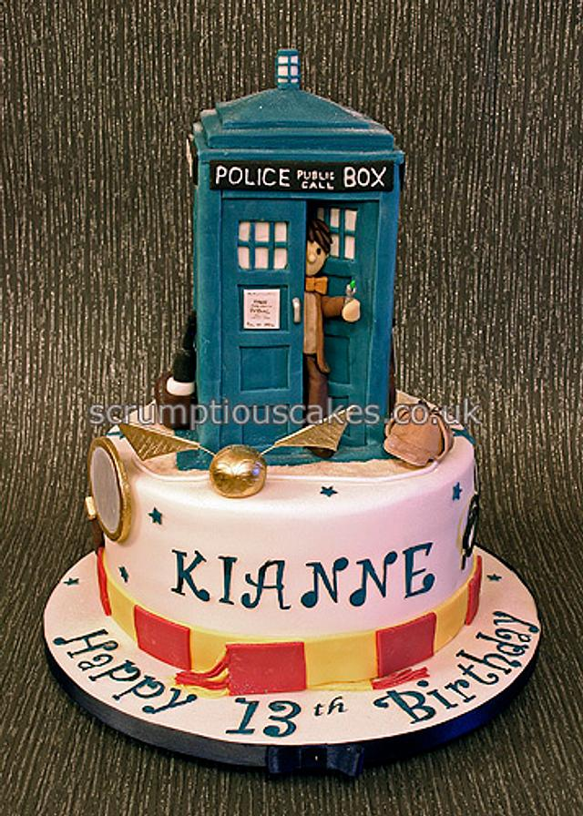 Astounding Dr Who Sherlock Holmes And Harry Potter Birthday Cake Cakesdecor Funny Birthday Cards Online Alyptdamsfinfo