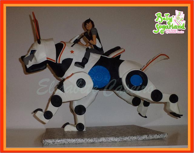 Gravity defying mechanical dog