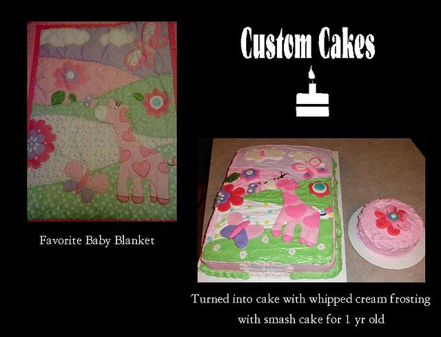 Match the Baby's Favorite Blanky Cake