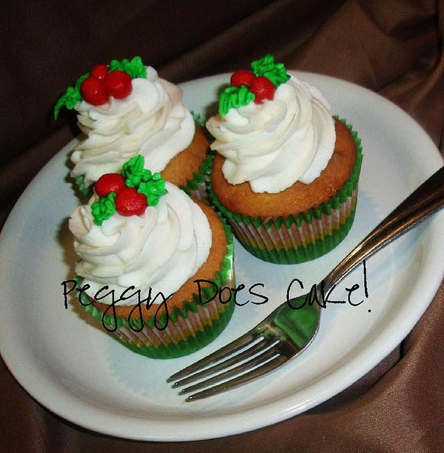 Holly Berry Cupcakes
