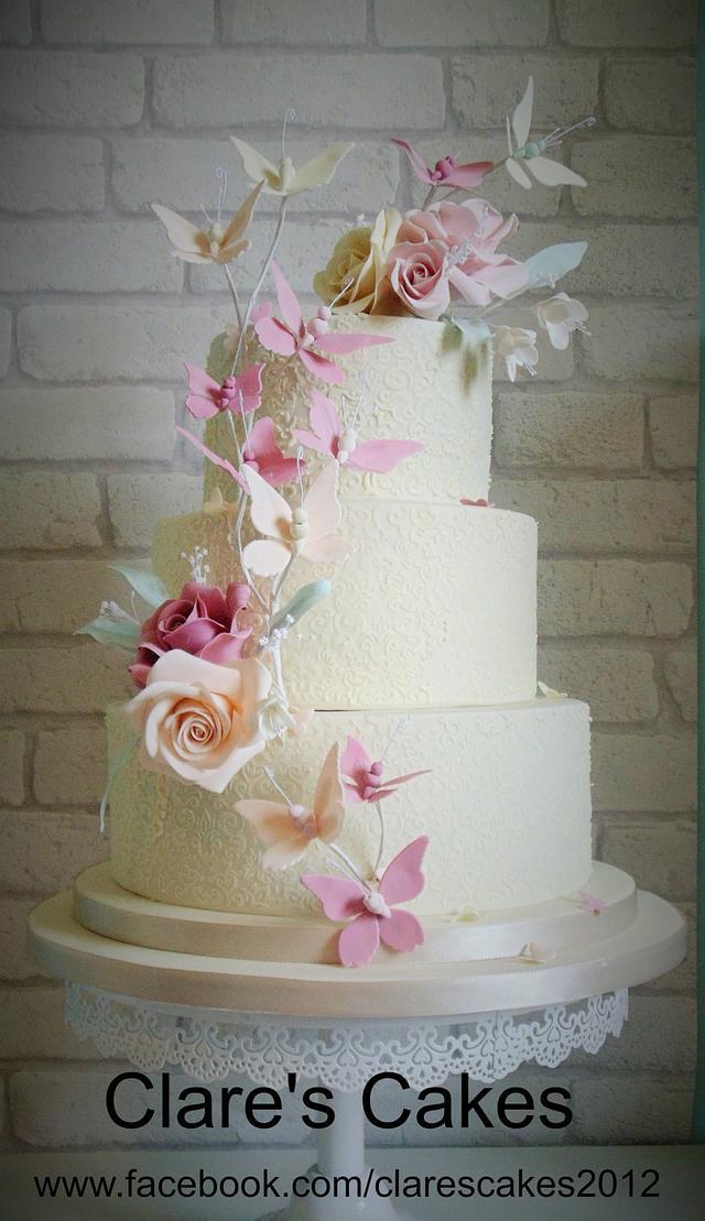 Butterfly Wedding Cake Sept 2014