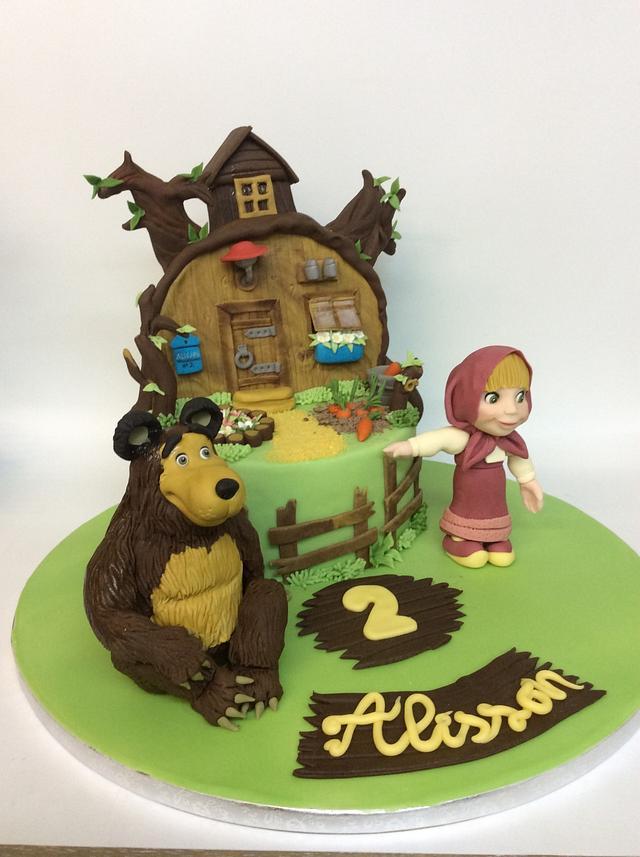 Tarta de masha y el oso