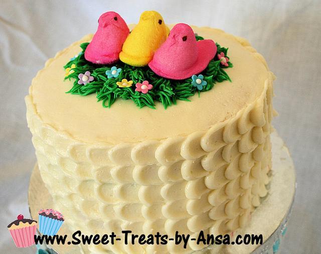 Easter Peep Celebration Cake