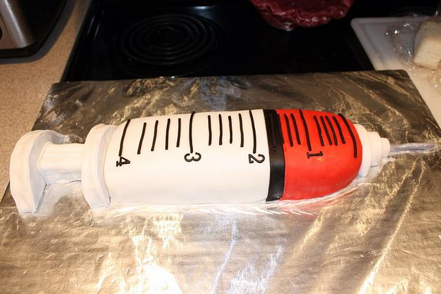 Big Shot Syringe Cake