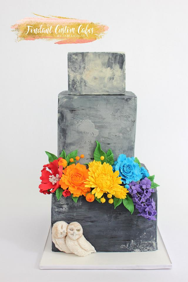 Concrete pride cake