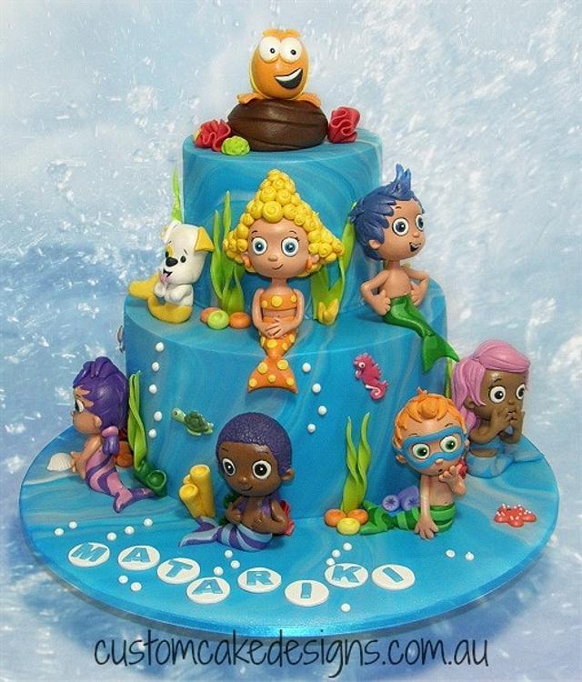 Astonishing Bubble Guppies 1St Birthday Cake Cake By Custom Cake Cakesdecor Birthday Cards Printable Inklcafe Filternl