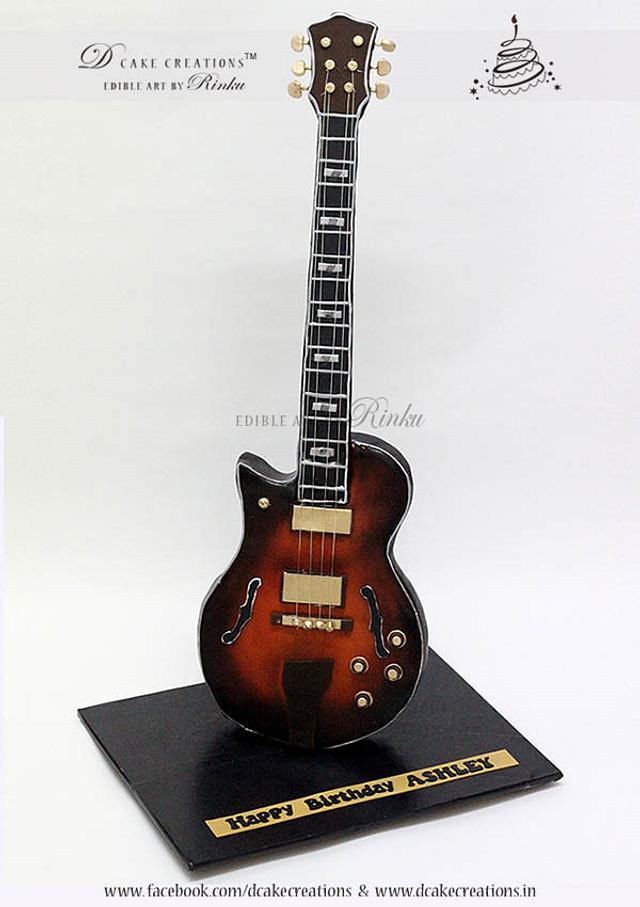 Standing Guitar Cake