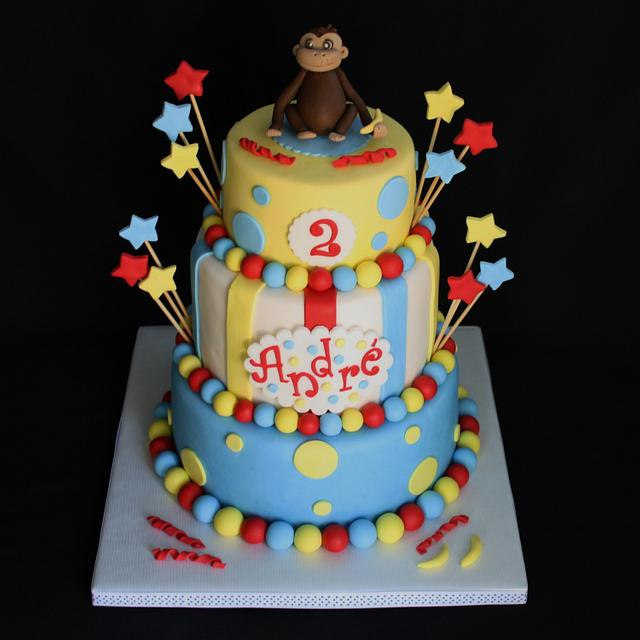 Brilliant Curious George Birthday Cake Cake By Cakesdecor Funny Birthday Cards Online Sheoxdamsfinfo