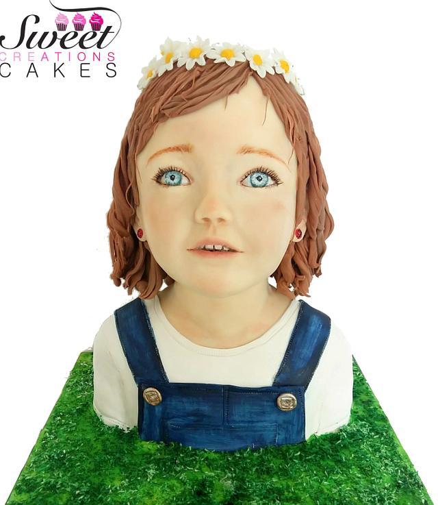 Little girl bust cake