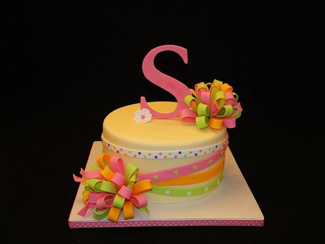 """""""S"""" Sienna's Birthday Cake (My Daughter)"""