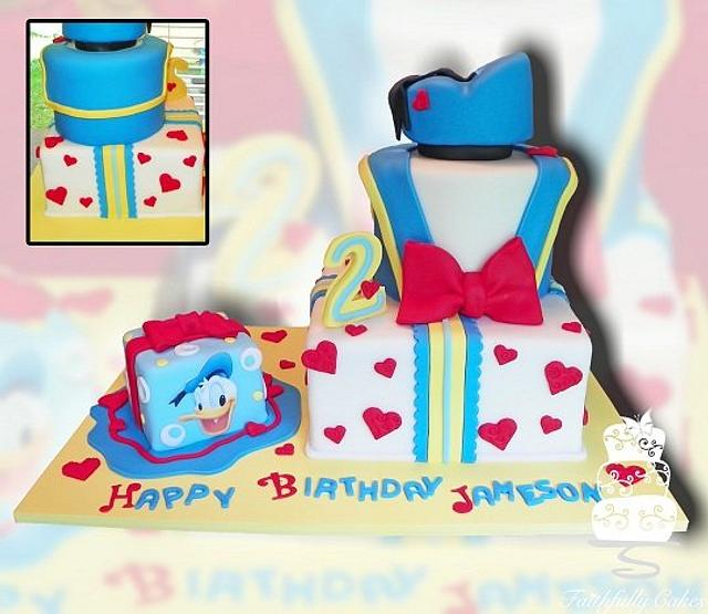 Excellent Donald Duck Second Birthday Cake By Faithfullycakes Cakesdecor Funny Birthday Cards Online Elaedamsfinfo