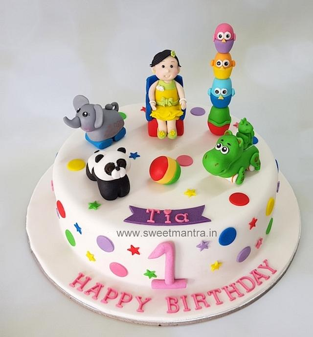 Phenomenal Toys Theme 1St Birthday Cake For Girl Cake By Sweet Cakesdecor Funny Birthday Cards Online Alyptdamsfinfo